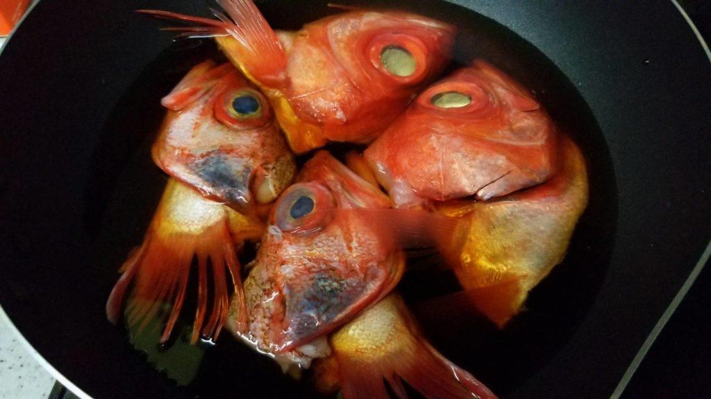金目鯛とユメカサゴの兜煮
