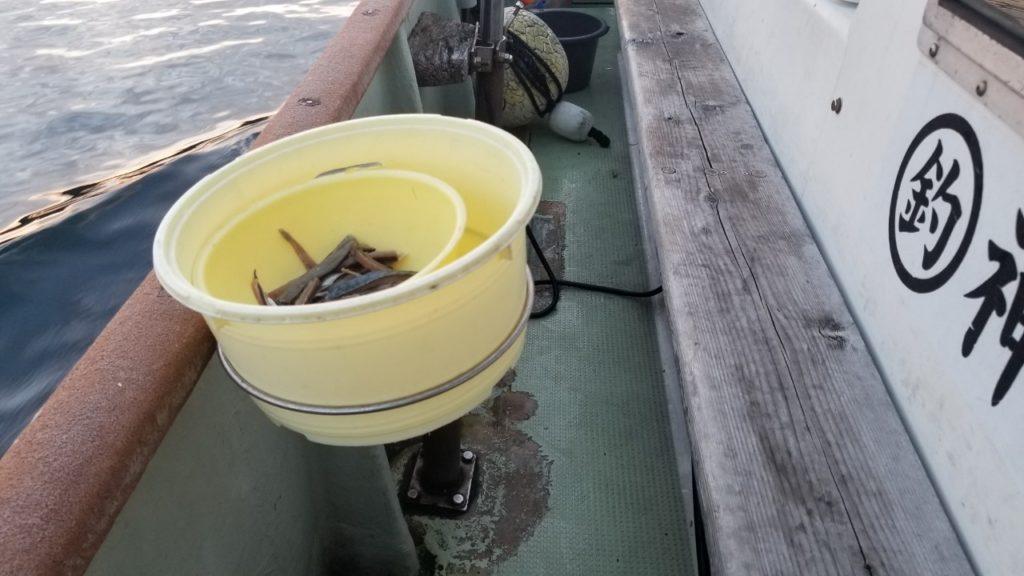 レトロな釣り座