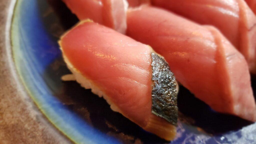 たたきを漬けにしてお寿司にしてみた
