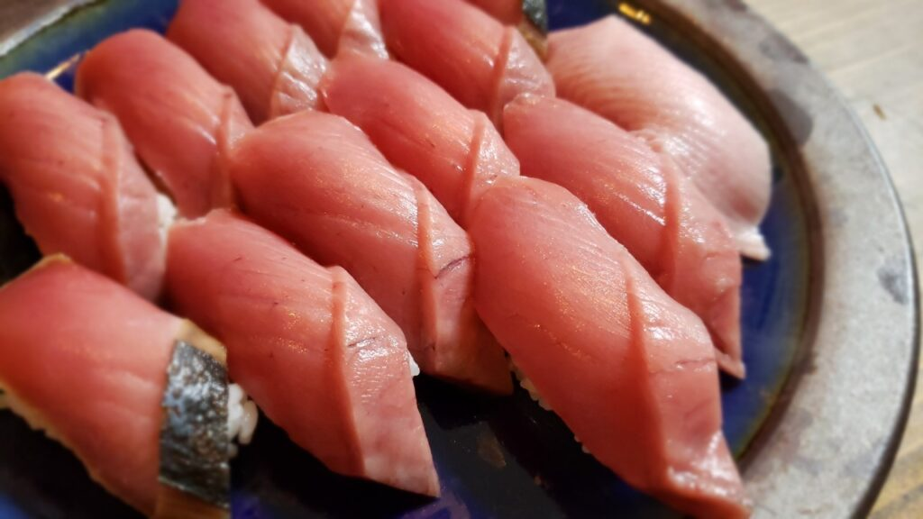 豪華なスマの握り寿司!!